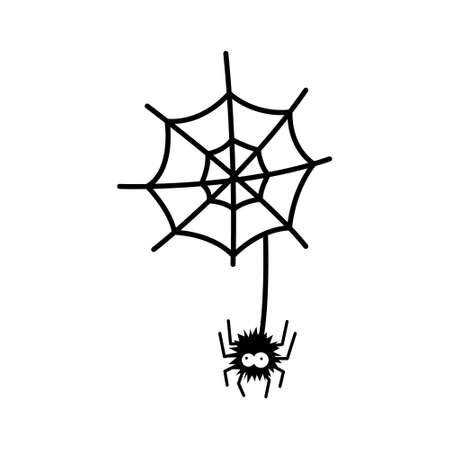 Spider vector illustration isolated on white isolated background. 向量圖像