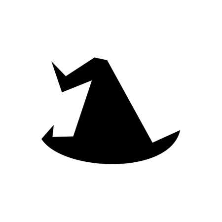 Witch hat vector illustration isolated on white background.