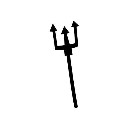 Devilish pitchfork on white background, vector illustration.