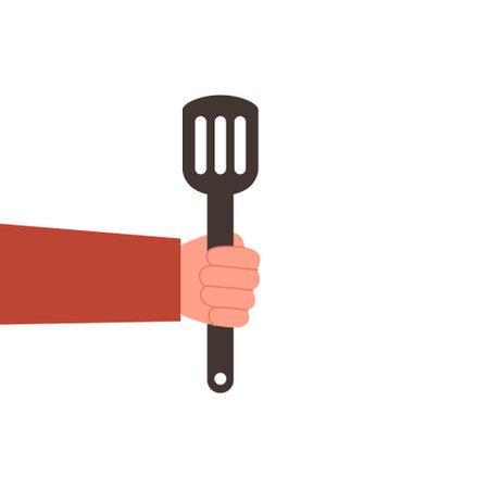 Silhouette spatula design. Perfect for icon, logo, template, etc Kitchenware Vector eps10. 向量圖像