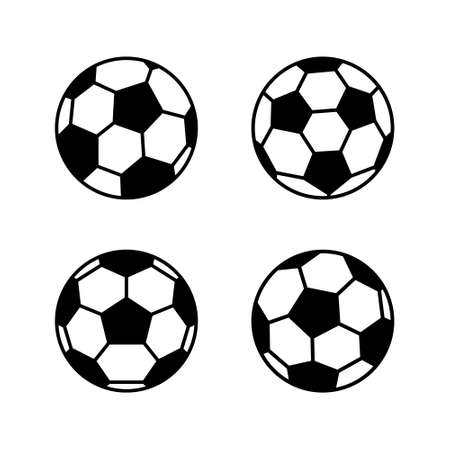 Soccer ball, simple style, icon. illustration isolated on white background.