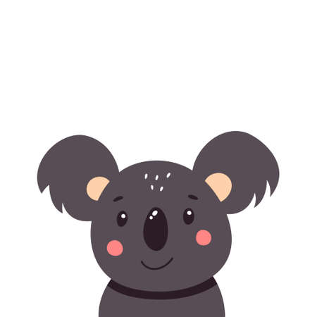 Cute koala. Vector illustration isolated on white background. Vectores