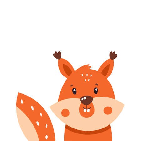 Squirrel icon. Vector illustration isolated on white background.