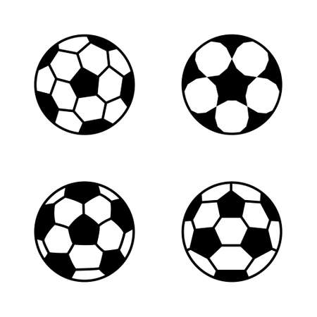 Soccer ball, simple style, icon. Vector illustration isolated on white background.