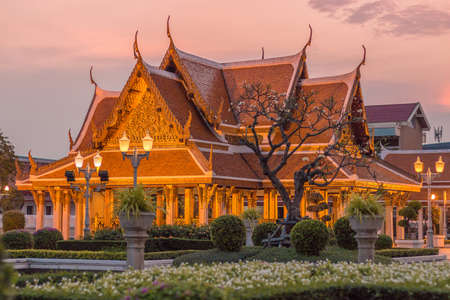 BANGKOK, THAILAND - 7 MARCH 2018, Maha Chetsadabodin Royal Pavilion o Trimuk Palace. For articles and guides to the sights and beautiful places of the city. Publikacyjne