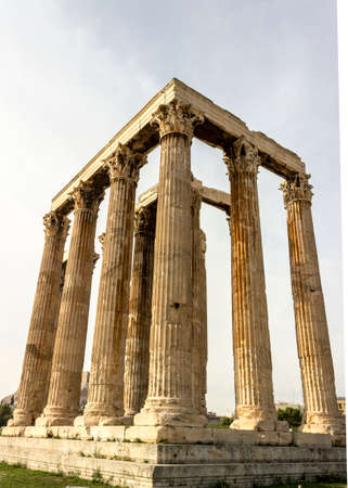 olympian: Full size Temple of Olympian Zeus Stock Photo