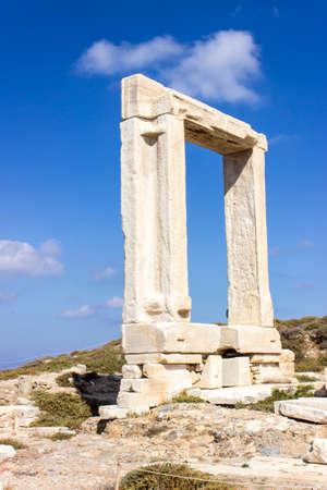 naxos: Gate of Apollon Temple in Naxos island, greece