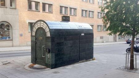 public houses: Paid Public toilet in Stockholm, Sweden, Scandinavia