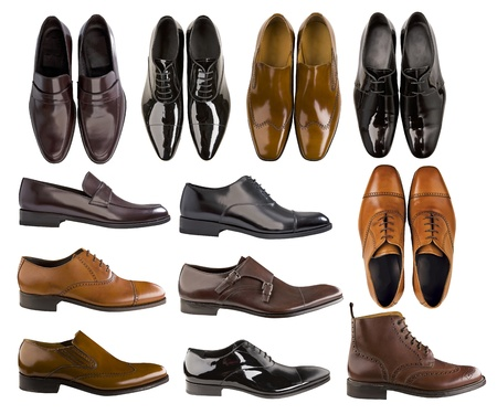 piernas hombre: los hombres zapatos de la colecci�n Foto de archivo