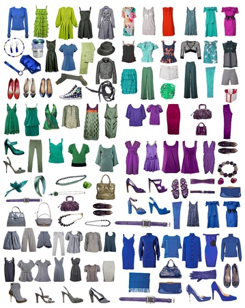 collection of icons of different clothes and accessories for the Internet and banners photo