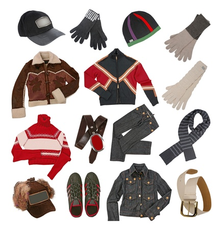 winter clothes for men Stock Photo