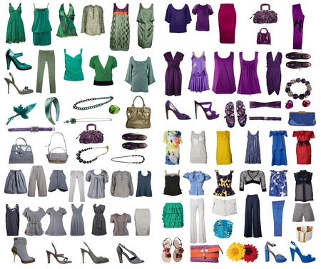 formal clothing: collection of icons of different clothes and accessories for the Internet and banners