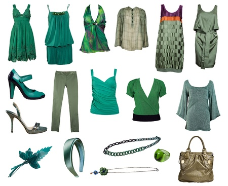 green clothes collection
