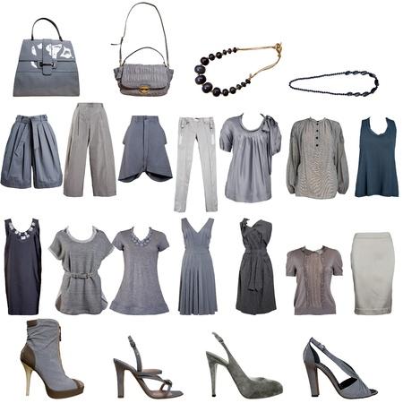 graue Kleidung Sammlung