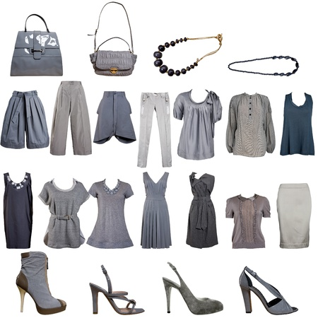 designer bag: ropa de la colecci�n gris