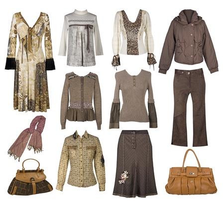 6e4b9f032b0a6 女性ファッションは秋の季節の服のセットです。図スタイリッシュで ...