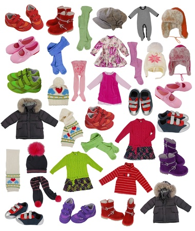 collection of children clothes photo