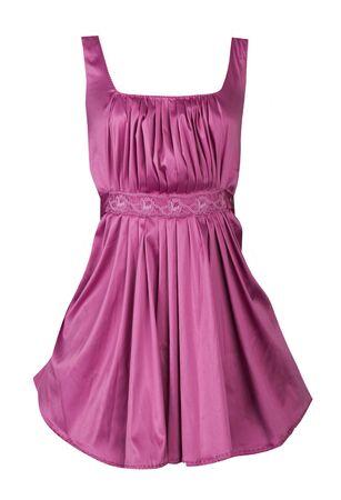 vestido de color rosa