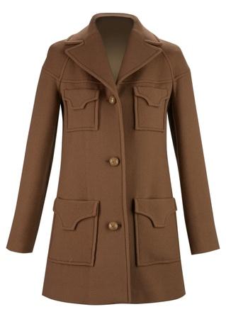 frock coat: brown coat