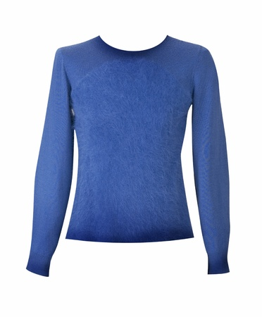 blue wool sweater photo