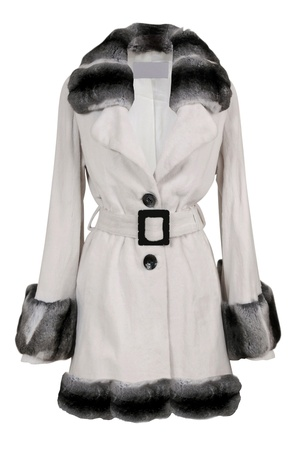 woman in fur coat: fur coat Stock Photo