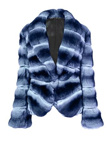 blue grey coat: blue fur coat