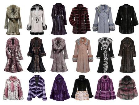 fur coat collection photo