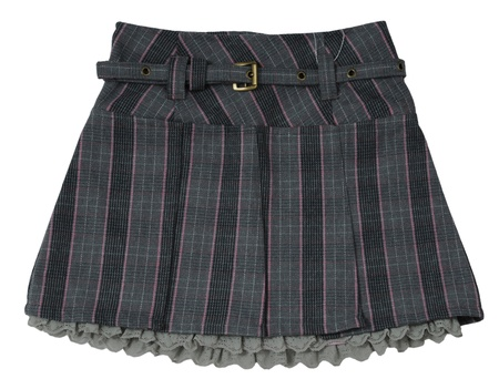 checkered skirt: gray skirt