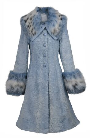blue fur coat Stock Photo - 11805933