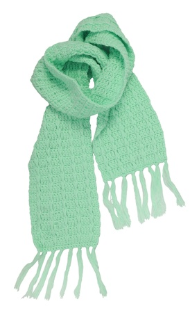 green scarf Stock Photo
