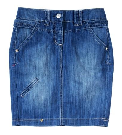 blue jeans skirt