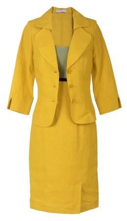 ropa de verano: traje amarillo Foto de archivo