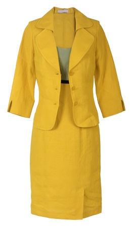 skirt suit: yellow costume