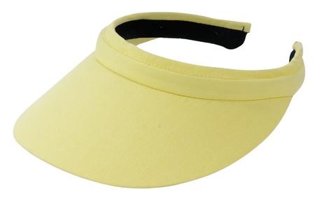 visor: yellow visor