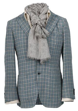 checkered scarf: men jacket