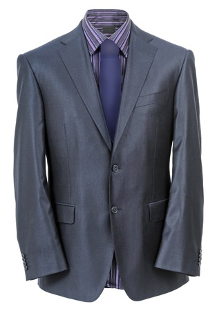 blue grey coat: men jacket