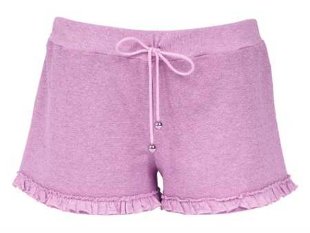 underclothes: pink shorts