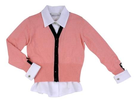 pink woolen jacket photo