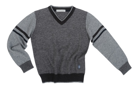 sweter: szary sweter