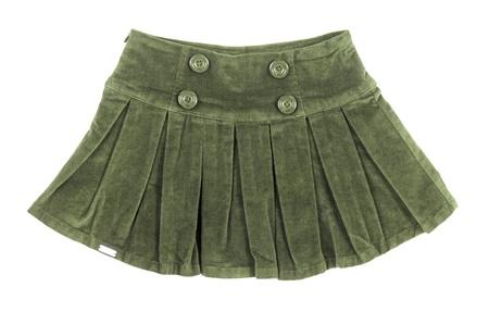 velvet dress: green skirt