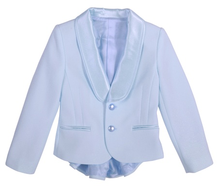 'rig out': blue jacket