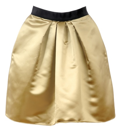 'rig out': golden skirt