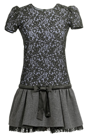 vestment: black lace dress Stock Photo