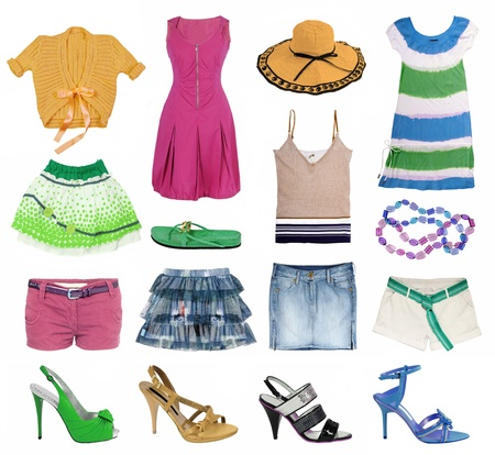 foot gear: summer clothes collection Stock Photo