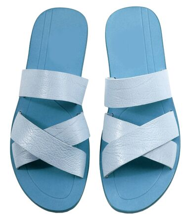footware: blue shoes isolated on white