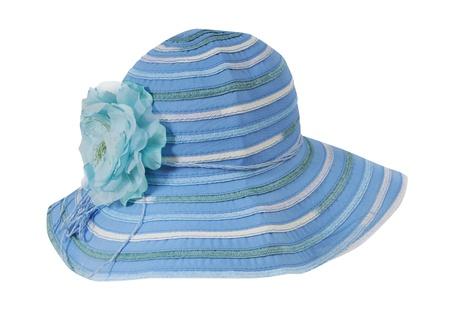women hat isolated on white photo