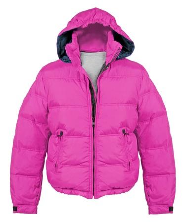 bata blanca: chaqueta de color rosa