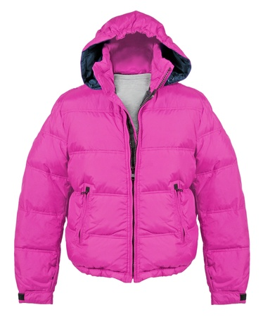 winter clothes: pink jacket Stock Photo