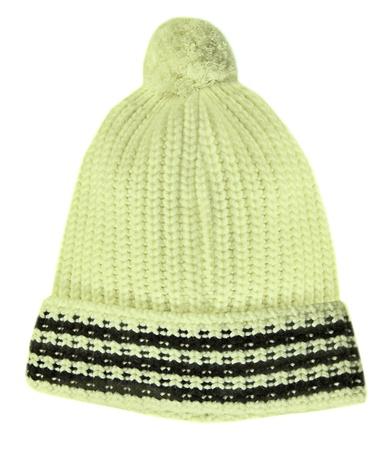 knitten: woolen cap isolated on white