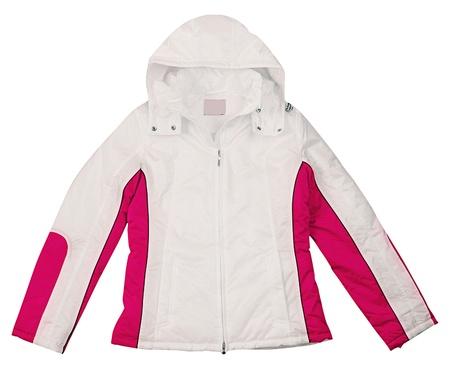 red jacket isolated on white photo